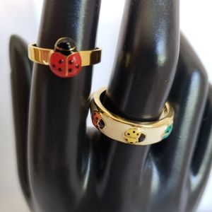 Joan rivers lady bug collection rings